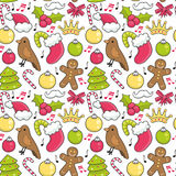 Christmas pattern. Christmas background, seamless tiling, great choice for wrapping paper pattern Royalty Free Stock Photography