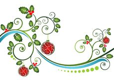 Christmas pattern with balls Royalty Free Stock Photos