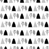 Christmas pattern  in black and white Royalty Free Stock Photos