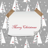 Christmas pattern with blank paper Stock Photos