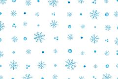 Christmas Pattern With Blue Snowflakes royalty free stock images