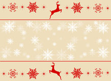 Christmas pattern border composition. Stock Images