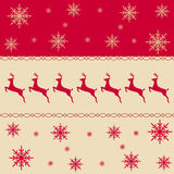 Christmas pattern border composition. Royalty Free Stock Photo