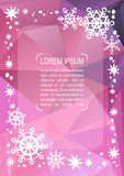 Christmas pattern-04. Christmas border with text frame. Xmas illustration. Vector xmas template. Bright abstract polygonal background. Design element for Vector Illustration