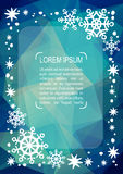 Christmas pattern-07. Christmas border with text frame. Xmas illustration. Vector xmas template. Bright abstract polygonal background. Design element for vector illustration