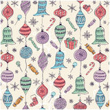 Christmas pattern. With colorful balls Royalty Free Stock Images