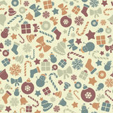 Christmas pattern. Colorful Pattern with Christmas Elements eps 10 Stock Image