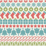 Christmas pattern. Colorful Pattern with Christmas Elements eps 10 Royalty Free Stock Photo