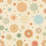 Christmas pattern with colorful snowflakes. EPS 8 Stock Image