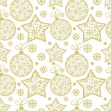 Christmas pattern with decorative elements Royalty Free Stock Image