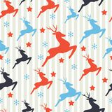 Christmas pattern with deers Royalty Free Stock Photo
