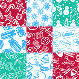 Christmas pattern 1 Stock Photos