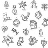 Christmas pattern of Gingerbreads. Vector illustration for your website or packaging design and fabric Stock Photo