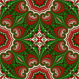Christmas pattern. Green, red and white colors.  Royalty Free Stock Photos