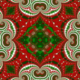 Christmas pattern. Green, red and white colors.  Stock Photography