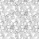 Christmas pattern - hand drawn doodle Royalty Free Stock Images