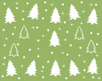 Christmas pattern. Illustration with white christmas tree Stock Photography