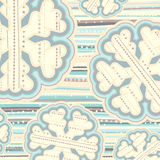 Christmas pattern in light pastel colors Stock Images