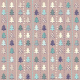 Christmas pattern in light pastel colors Royalty Free Stock Photography