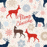 Christmas pattern. Merry Christmas snow background. Royalty Free Stock Photos