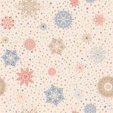 Christmas pattern. Merry Christmas snow background. Stock Photos