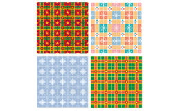 Christmas pattern. 4 christmas pattern modern and classic Stock Photos