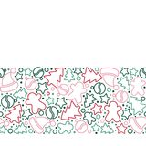 Christmas pattern in outline style. Royalty Free Stock Image
