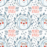 Christmas pattern with polar bears Royalty Free Stock Photos