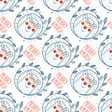 Christmas pattern with polar bears Royalty Free Stock Images
