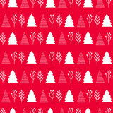 Christmas  pattern on a red background Royalty Free Stock Photography