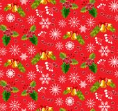 Christmas pattern red. Seamless backgrounds s Stock Photos
