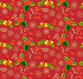 Christmas pattern red. Seamless backgrounds Royalty Free Stock Image