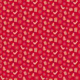 Christmas pattern red. Seamless backgrounds s Royalty Free Stock Image