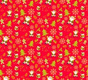 Christmas pattern red seamless backgrounds vectors. Collection of boxes with simple decoration hand drawn royalty free stock photos