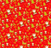 Christmas pattern red seamless backgrounds vectors. Collection of boxes with simple decoration hand drawn royalty free stock images