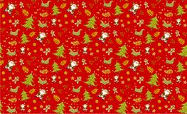 Christmas pattern red seamless backgrounds vectors, Collection. Christmas pattern red seamless backgrounds vectors, Collection of boxes with simple decoration stock photography