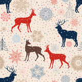 Christmas pattern. Retro Merry Christmas tled background. Festi Stock Photo