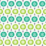 Christmas pattern in retro style Royalty Free Stock Photos