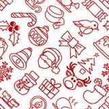 Christmas Pattern Seamless Background Stock Photography