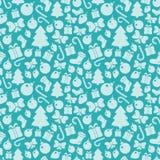 Christmas pattern. Seamless pattern with Christmas paraphernalia Stock Photo