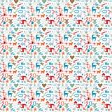Christmas pattern seamless pattern xmas icons Stock Photos