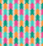 Christmas pattern. Seamless stylish pattern with color christmas trees. Vector illustration Royalty Free Stock Photography