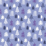 Christmas pattern115. Christmas seamless pattern  with  christmas tree.Winter forest. Holiday background.Unique hand drawn texture.Vector illustration Stock Photography