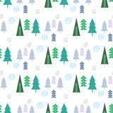 Christmas pattern113. Christmas seamless pattern with christmas tree.Winter forest. Holiday background.Unique hand drawn texture.Vector illustration Royalty Free Stock Photos