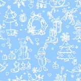 Christmas pattern seamless,vector Royalty Free Stock Images