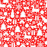Christmas pattern seamless. Vector illustrations of red Christmas pattern seamless with baubles Royalty Free Stock Image
