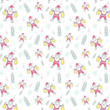 Christmas pattern seamless vector Royalty Free Stock Image