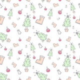 Christmas pattern seamless vector Royalty Free Stock Images