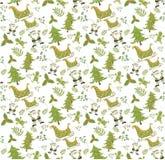 Christmas pattern seamless vectors. Christmas pattern seamless on white background vectors illustrator royalty free stock image