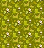 Christmas pattern seamless vectors. Christmas pattern seamless on white background vectors illustrator stock photography